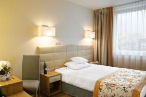 Pokój jednoosobowy Hotelu Petropol w Płocku